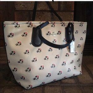 Coach floral Print handbag